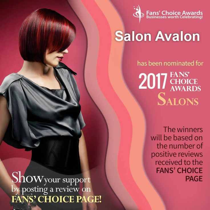 """Congratulations! Salon Avalon has been nominated for the 2017 Fans' Choice Awards for """"Salons"""" and the winners will be based on the no. of positive reviews received to the Fans' Choice page Show your support by posting a review on Fans' Choice page below: http://www.fanschoice.org/stars/salon-avalon-billings/"""