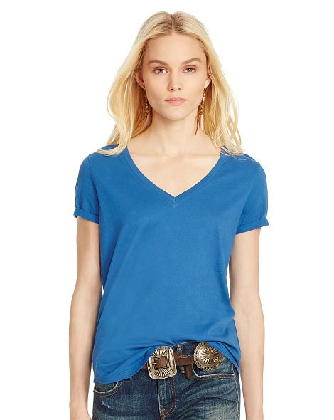 Cotton Jersey V-Neck Tee - Polo Ralph Lauren Sale - RalphLauren.com