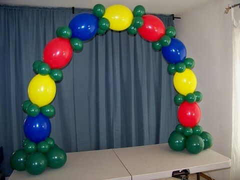 how to make a table balloon arch with no helium. Flower , Beautiful . - YouTube