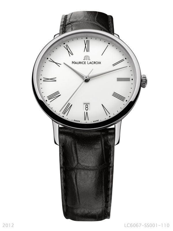 Les Classiques Tradition. Automatic movement ML 155, date, 38mm stainless steel case, genuine leather strap and water-resistant to 30m. LC6067-SS001-110.