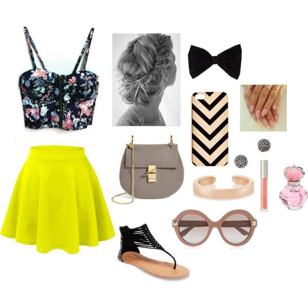 Floral summer day outfit