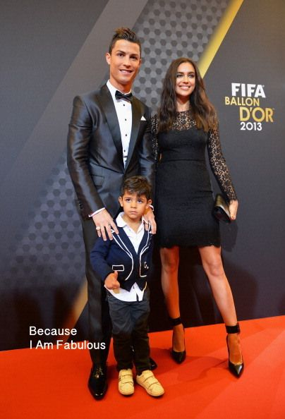 Fabulously Spotted: Cristiano Ronaldo In Dsquared² & Irina Shayk In Dolce & Gabbana - FIFA Ballon d'Or Gala 2013 - http://www.becauseiamfabulous.com/2014/01/cristiano-ronaldo-in-dsquared%c2%b2-irina-shayk-in-dolce-gabbana-fifa-ballon-dor-gala-2013/