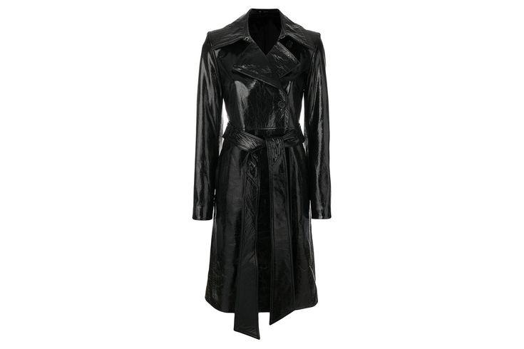 "Patent trench coat, £2,069 at [link url=""https://www.farfetch.com/uk/shopping/women/helmut-lang-patent-trench-coat-item-12530089.aspx?storeid=9053&from=listing&tglmdl=1""]Farfetch.com[/link]."