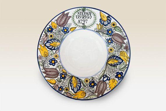 Large Dinner Bowl Ceramic Dinner Bowl with blue by HabanCeramic, Ft13900.00