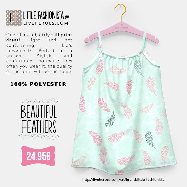 #feathers #birds #hipster #trend #trendy #girly #cool #stylish #fashion #delicate #grunge #painted #girldress #dress #liveheroes #liveheroesshop #littlefashionista