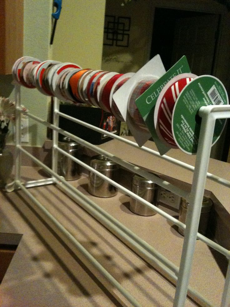 Shoe Racks Make A Great Ribbon Holder Can Hold Up To Over 200
