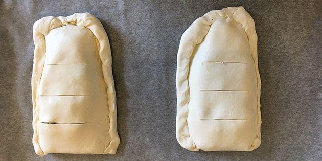 Indbagt laks i butterdej