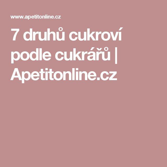 7 druhů cukroví podle cukrářů   Apetitonline.cz