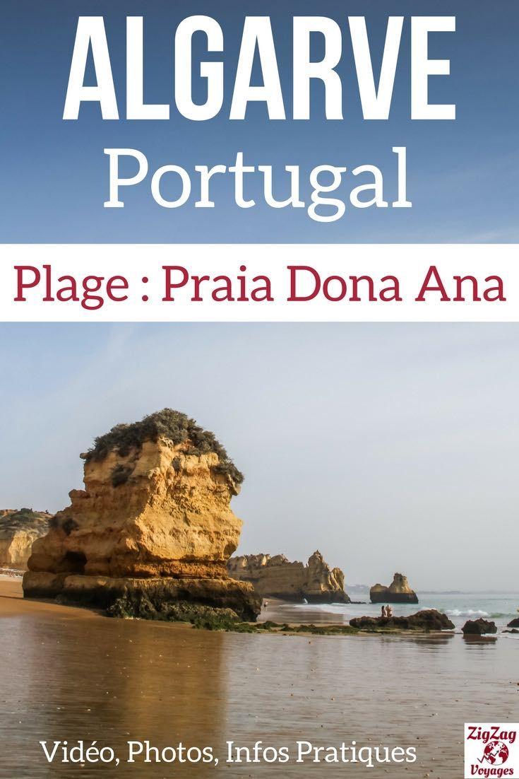 Portugal Voyage - Découvrez Praia Dona Ana, une des plus fameuses plage de la région d'Algarve - Près de Lagos, Portugal avec une belle étendue de sable, des falaises ocres et des piliers rocheux - Photos, Video et infos pratiques | #Portugal #Algarve | Portugal Paysage | Algarve plage | Que faire au Portugal