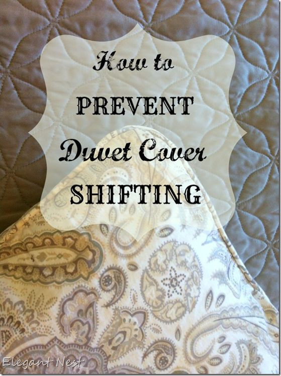 Just tie strips of ribbon on the inside edges and tie in a bow when you're putting on your duvet cover