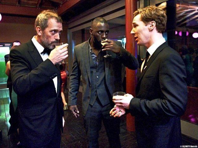 Hugh Laurie, Idris Elba, Benedict Cumberbatch. I... I just... I can't handle.