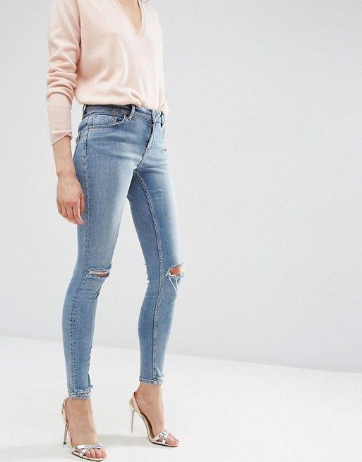 les 25 meilleures id es de la cat gorie jeans skinny d chir s sur pinterest jeans d chir s. Black Bedroom Furniture Sets. Home Design Ideas