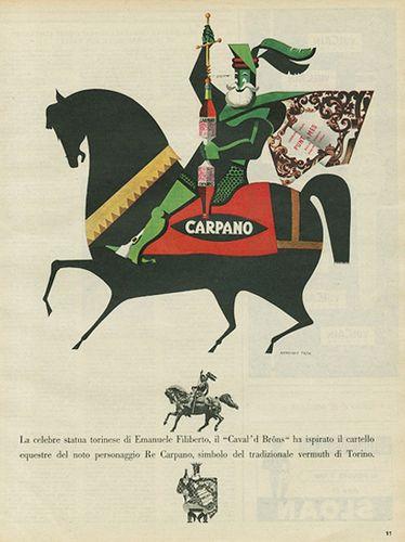 Pubblicità CARPANO 1954 by Illustrated History - Domenica del Corriere, via Flickr