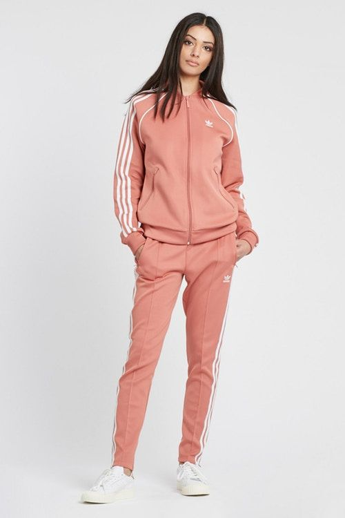 new concept a16fc a4b3d adidas Originals Dusky Ash Pink Track Pants logo trefoil pastel womens  joggers where to buy set Sneakersnstuff