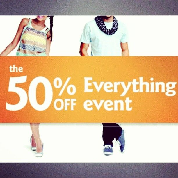 Who checked out our 50% sale today?!