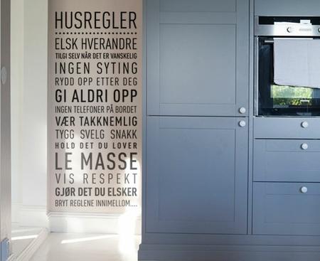 Husregler - Wallsticker