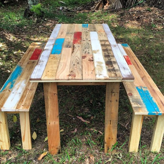 Rustic Farm Table and Benches  Shipping NOT Included