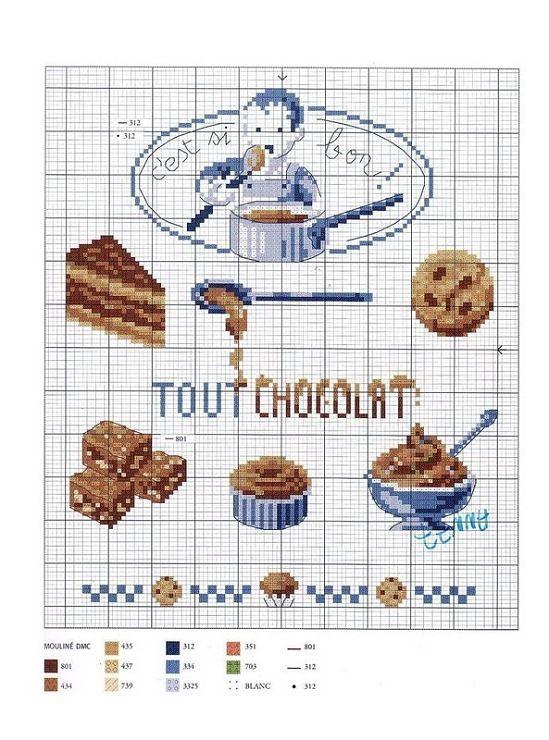 Chocolate Cross Stitch Chart: