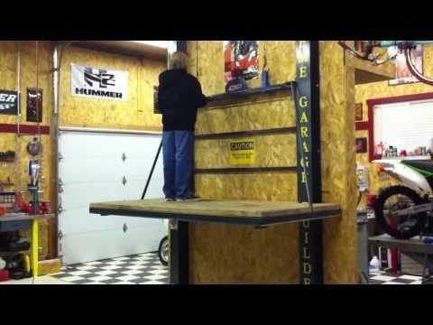Best 25 garage attic ideas on pinterest storage for Garage attic lift elevator