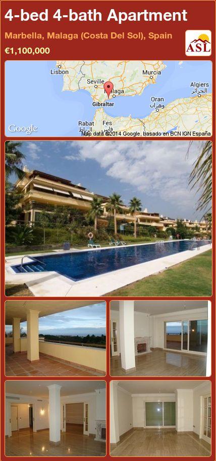 4-bed 4-bath Apartment in Marbella, Malaga (Costa Del Sol), Spain ►€1,100,000 #PropertyForSaleInSpain