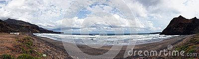 Beach Prainha. Island Sao Nicolau. Panorama 17 photos