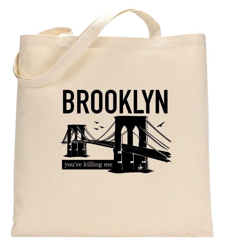 Brooklyn, You're Killing Me Tote Bag - Free Shipping - Andrew McMahon in the Wilderness - Jack's Mannequin - Profits to Dear Jack Foundation by forwardsnapgifts on Etsy