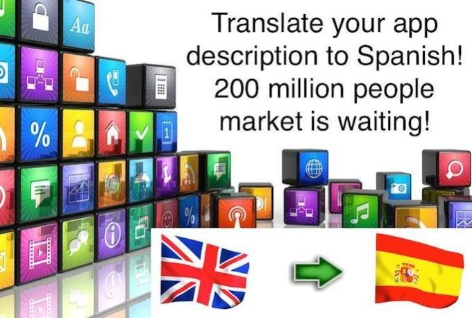 translate App description from English to Spanish Mobile