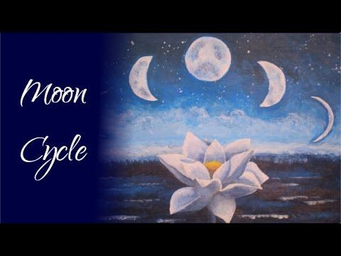 Moon Cycle - Impressionistic Acrylic Painting Time Lapse