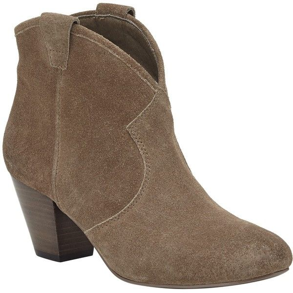 Ash Jalouse Heeled Ankle Boots, Topo Suede (£78) ❤ liked on Polyvore featuring shoes, boots, ankle booties, short boots, suede ankle boots, low ankle boots, suede boots and flat boots