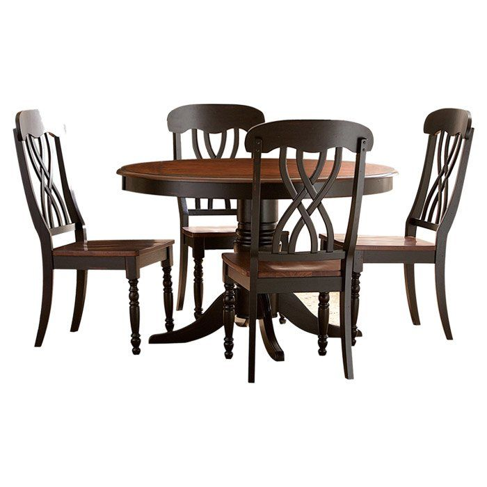 Danise 5 Piece Dining Set Dining Table Black Classic Dining