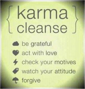 daily karma cleanse