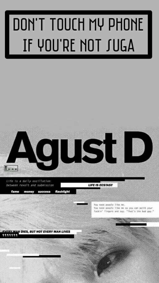 Suga bts wallpaper and background agust D edit by @gf_.renjun