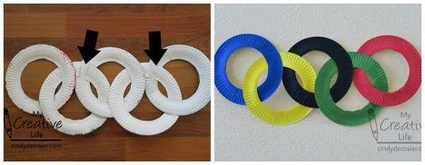 Recréer les anneaux olympiques