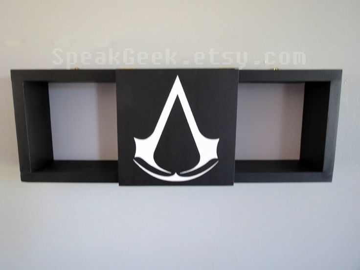 Assassin's Creed - Shadow Box Shelf - Home Decor- Cubbie Shelf - Hand Made - Hand Painted - MADE TO ORDER by SpeakGeek on Etsy https://www.etsy.com/listing/253408884/assassins-creed-shadow-box-shelf-home