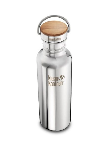 Klean Kanteen Reflect Mirrored Stainless Steel Water Bottle with Bamboo Cap