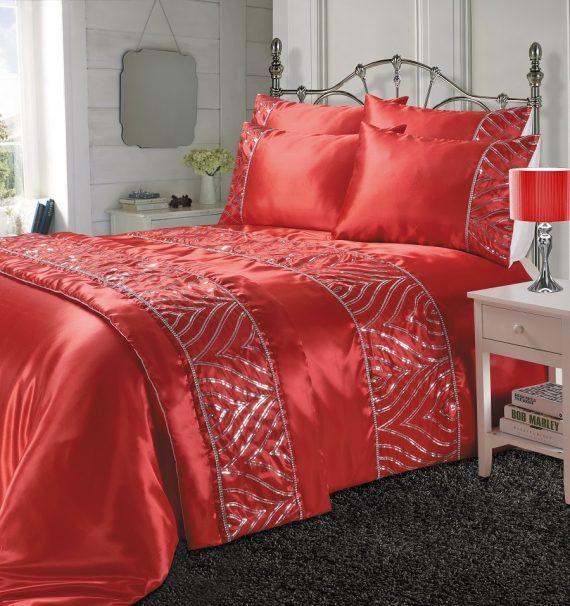 Shimmer Duvet Quilt Cover Bed Runner Red Linens Range Red Duvet Cover Damask Bedding Discount Bedding Sets
