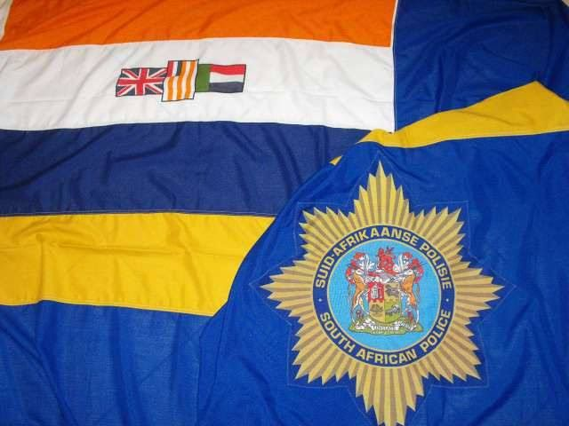 -South African Police Flag , Pre -1994 !