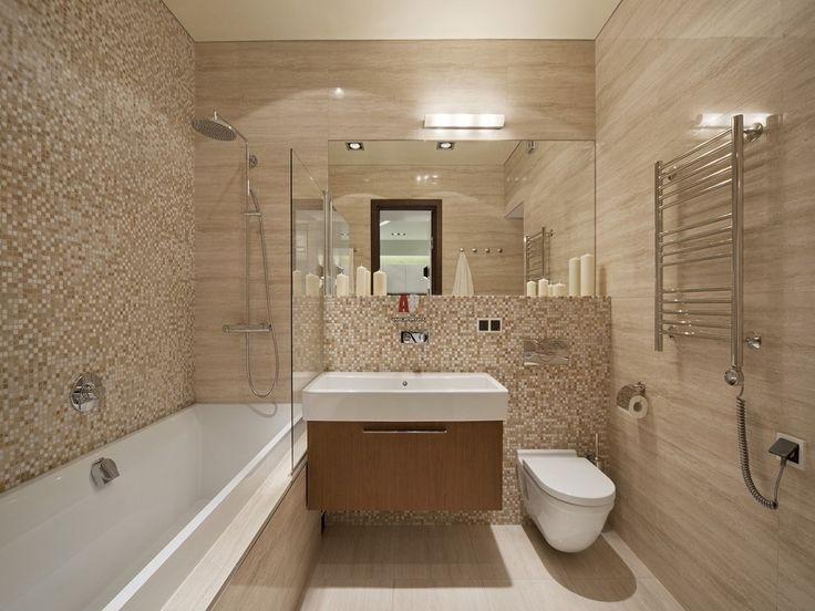Бежевый цвет в интерьере ванной комнаты