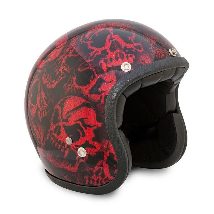 "SEVENTIES Superflakes ""Skulls 2016"" open face helmet with ECE"