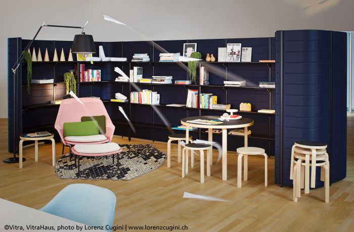 Vitra brand photo in the VitraHaus with the #Tolomeo Mega Terra. The vitrahaus, built by architects Jacques Herzog & Pierre de Meuron, houses the Vitra flagship store & Vitra Home Collection. ►http://bit.ly/TolomeoMegaTerra #design Michele De Lucchi & Giancarlo Fassina