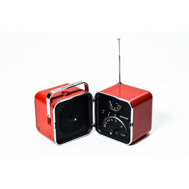 Radio TS502 by Zanuso 104 mhz Sapper funzionante produzione Brionvega 1964 arancione in plastica
