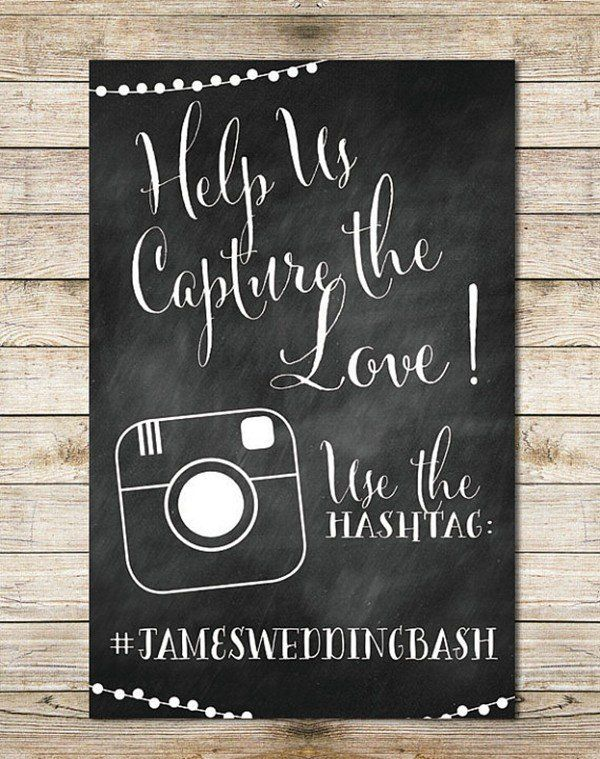 best 25 cute wedding hashtags ideas on pinterest wedding Wedding Hashtags Letter M 14 chalkboard details for your modern wedding wedding hashtags letter t
