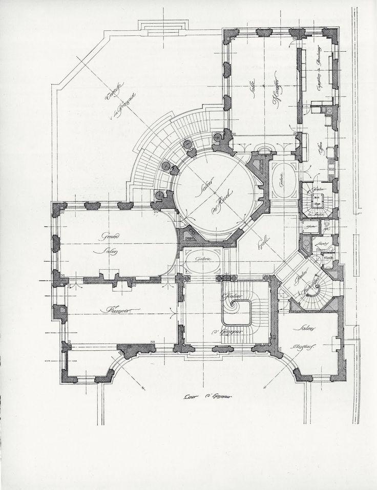 Mansion Floor Plans: Hôtel Camondo, 63, rue de Monceau, Paris, France