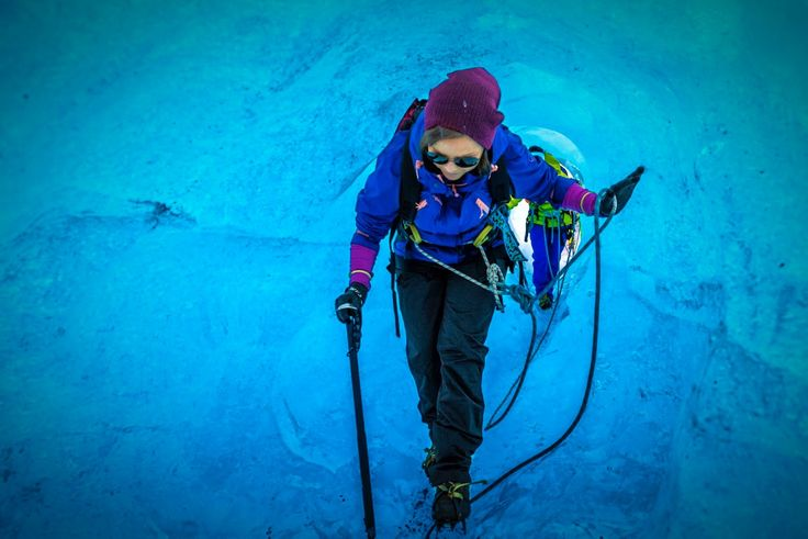 Our versatile all-weather shell jacket, Sirdal, really came into its own in the stunning blue light of Bøverbreen. http://www.stormberg.com/en/sirdal-jacket-w.html#20929 — at Jotunheimen.