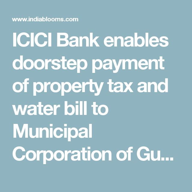 ICICI Bank Limited, India's largest private sector bank by consolidated assets, in association with Municipal Corporation of Gurugram (MCG), on 30 October 2017 announced the launch of a digital service to facilitate doorstep payment of property tax and water bill, by owners of properties in Gurugram. A first-of-its-kind solution in the country, it integrates a hand held, point-of-sale machine with the MCG server. This enables it to instantly fetch and update real time data from the MCG…