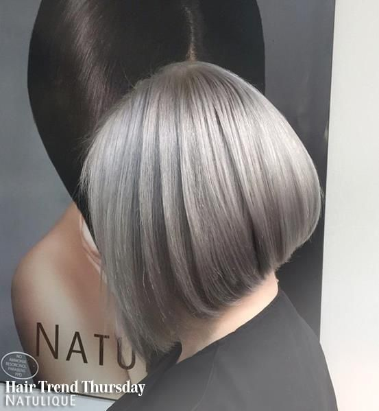 Look at this grey hair! A beautiful colouring done by Kasia Bilkiewicz from NATULIQUE UK. We love it! #NATULIQUE #NATULIQUEchic #HairTrendThursday #Colouring #Natural #Organic