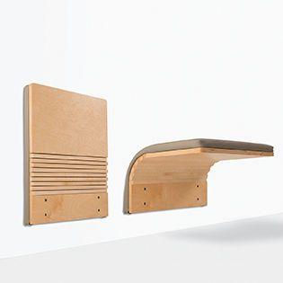 Perfect Auditorium Chair / Minimalist Design / Wall Mounted / Fabric JUMPSEAT™ WALL  By Ziba