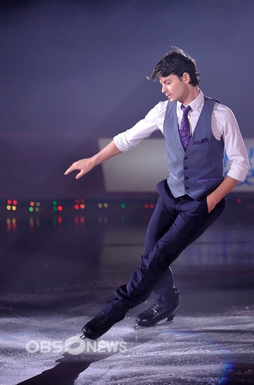 The Spin Master - Nine-time Men's Swiss National Figure Skating Champion, two-time Men's World Figure Skating Champion, and 2006 Men's Olympic Figure Skating silver medalist, Stéphane Lambiel (Switzerland)