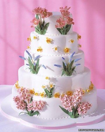 Spring-Inspired Cake | Martha Stewart Weddings