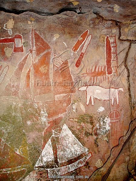 Aboriginal rock art depicting European ships. HT2-4 Use this image to help…